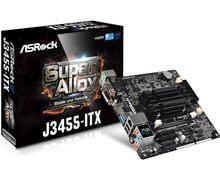 Novo completo asrock J3455-ITX mini integrado cpu quad core placa-mãe nas
