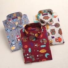 Dioufond Vintage Top Floral Shirts Women Cotton Blouses Elegant Ladies Tops Long Sleeve Shirt Casual Blusas Women Clothing 2017