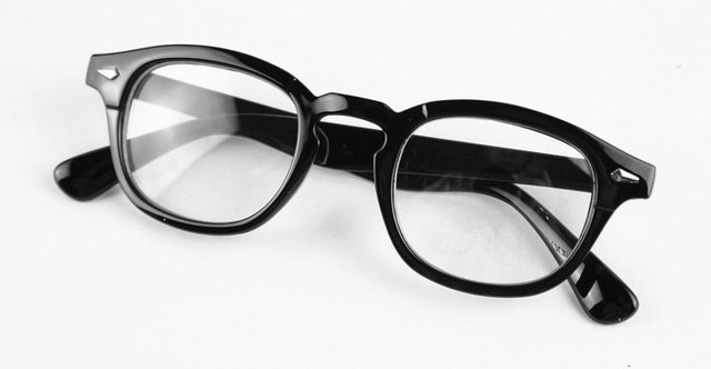 fbe209e78f Vintage Eyeglass Frame Black Full-Rim Man Women Retro Glasses Eyewear Clear  Lens Spectacles RX