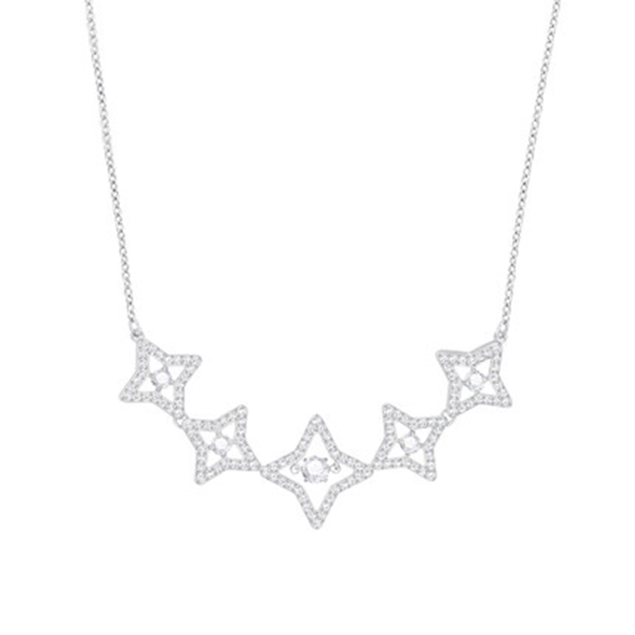 2018 SWA Stars 2 Necklaces Official 1:1 Has the Logo. Elegant Ladies JEWELRY Free Package Mail