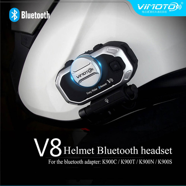 Vimoto V8 850Mah Motorcycle Multi-functional Helmet Bluetooth Headset Motorbike Stereo Headset For Intercom GPS Mobile Phone ATV
