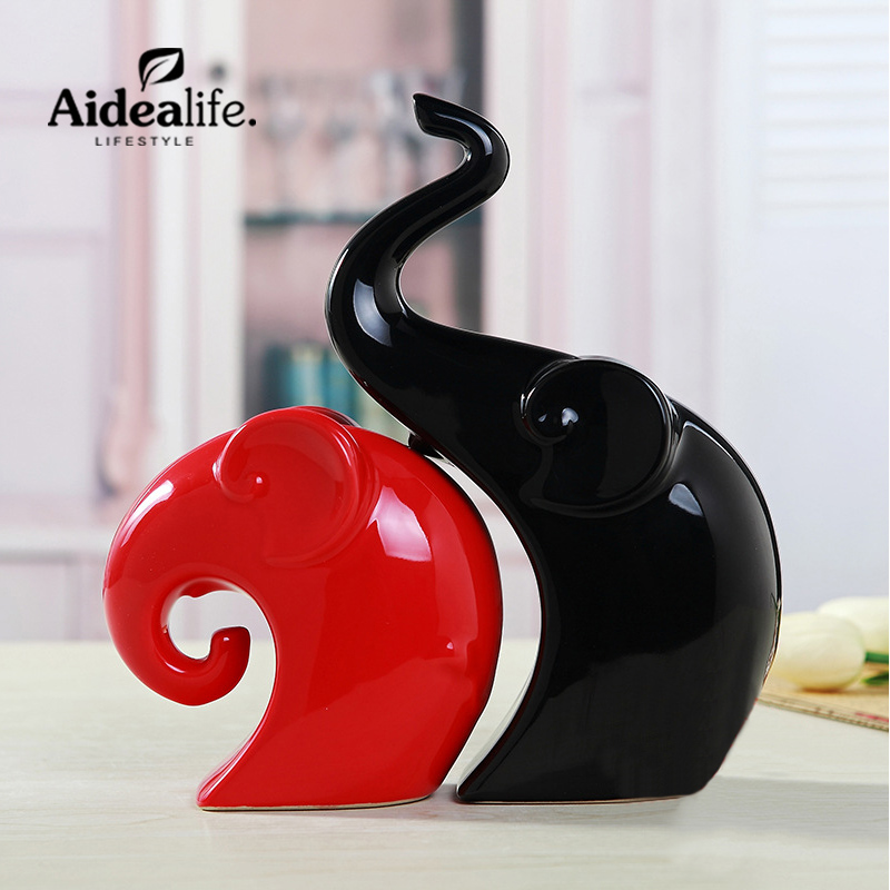 home decoration accessories elephant figurine feng shui products  - Home Decor - Photo 1