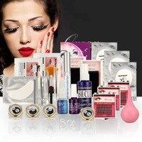 25 in 1 Pro False Eye Lashes Eyelash Extension Glue Removal Kit Tools Set Case