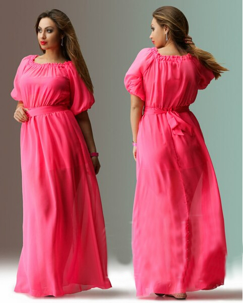 0aa55ab4ecbe5 Woman Autumn dresses big size half sleeve off shoulder long maxi dresses  for club plus size women clothing 4xl 5xl-in Dresses from Women's Clothing  on ...