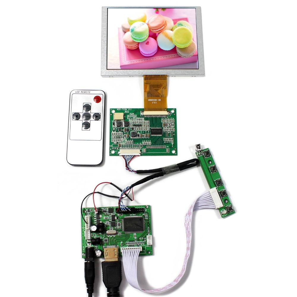 цена на HDMI LCD Controller Board With 5inch ZJ050NA-08C Replace 640x480 AT050TN22 LCD Screen