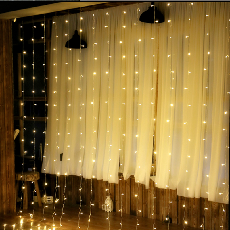 4.5Mx3M 300Bulb Garland Christmas Fairy Curtain Lighs Icicle String Lights For Xmas Holiday Party Wedding Decoration