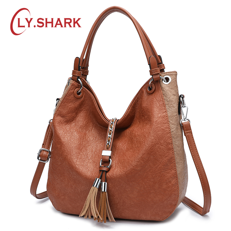 LY.SHARK Women Bags Designer Bag Ladies PU Leather Women Handbags Famous Brand Woman Bags 2018 Messenger Bag Luxury Handbags women leather handbag famous brand luxury handbags women bags designer ladies messenger bags patchwork hasp sequined bow bag