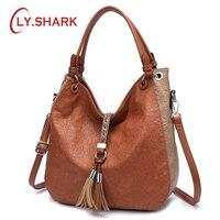 LY.SHARK Women Bags Designer Bag Ladies PU Leather Women Handbags Famous Brand Woman Bags 2018 Messenger Bag Luxury Handbags