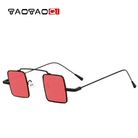 TAOTAOQI New Metal Square Small Frame Sunglasses Women Brand Designer Simple Fashion Sun Glasses Men UV400