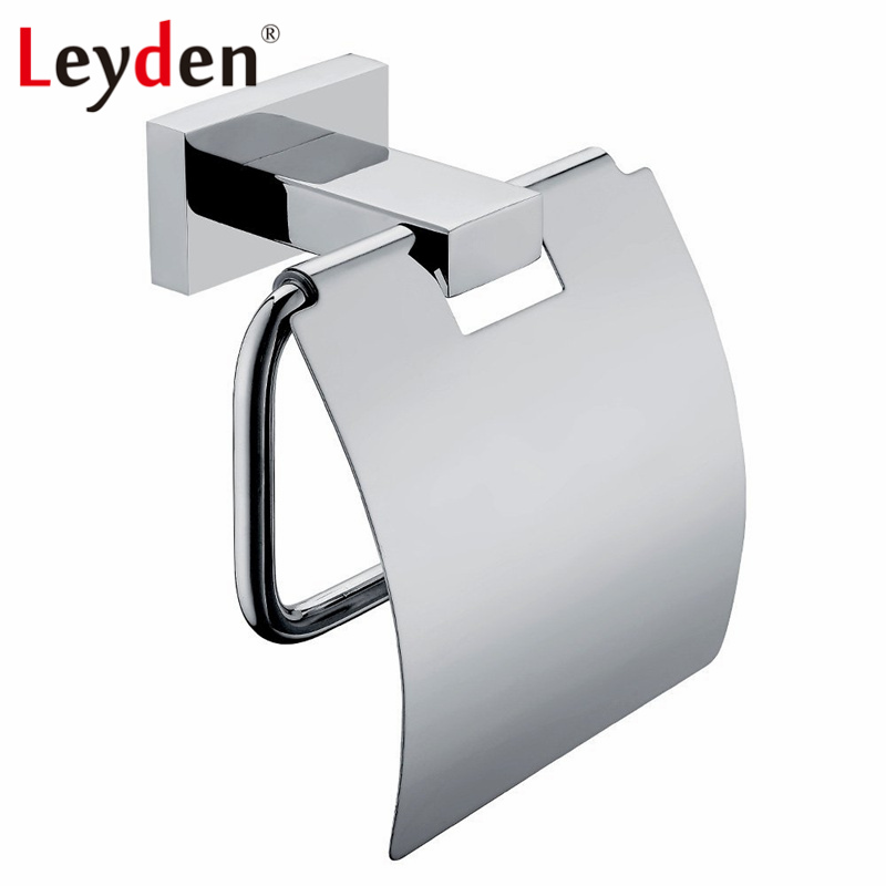 Modern Gold Finish Toilet Roll Holder Wall Mounted Stainless Steel Paper Bracket