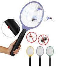 Электрический мухобойка для дома мухобойка Москитная ошибка Zapper убивает комаров защитная сетка Беспроводная Анти Москитная ошибка использование АА батареи