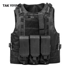 YIYING TAK Berburu Militer Airsoft MOLLE Nylon Tempur Paintball Taktis Vest CS Produk-produk Outdoor(China)