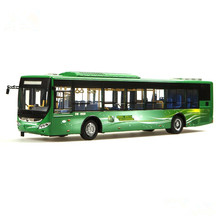 Collectible Alloy Model Gift 1:42 Original Yutong ZK6125CHEVPG21 Hybrid City Transit Bus Vehicle DieCast Toy Decoration