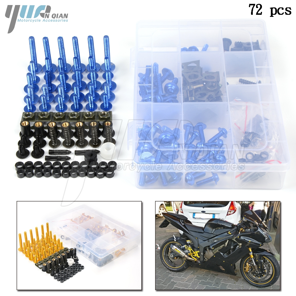 Fairing Bolts Motorcycle Aluminum Kit Spire Speed Fastener Clips Screw Spring Bolts Nuts For Yamaha FZ1 FZ4 FZ6 FZ6R FZ8 FZ1N FZ|Nuts & Bolts|   - title=