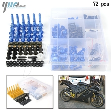 Hot Universal Motorcycle Fairing Bolt Screw Fastener Fixation for Suzuki GSX R 600 750 GSF 600 SV 1000 S Screw Nuts Complete Kit 1set for universal aluminum motorcycle accessories fairing bolt screw fastener fixation for suzuki dl650 v strom gsx 600f 750f k