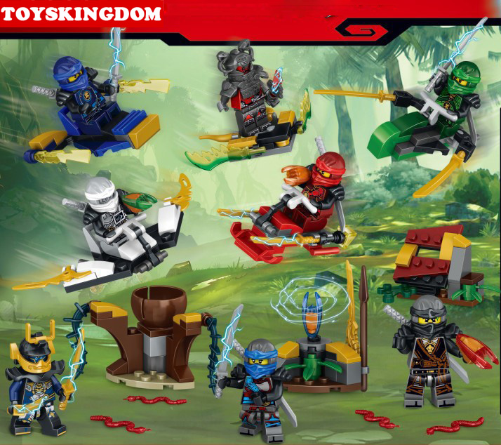 Hot ninja go mini scene fighter building block Samurai X Kai Zane Cole Jay Lloyd Nya figures snake devil Aerocraft bricks toys