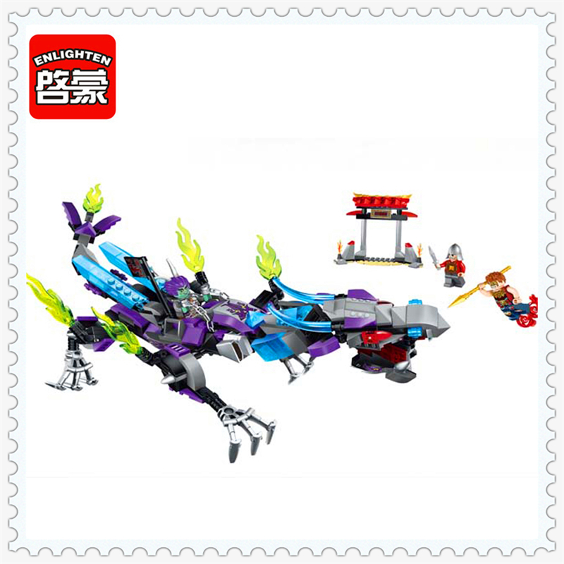ENLIGHTEN 2211 Creation Of The Gods Na Zha Dragon Building Block 338Pcs Educational  Toys For Children Compatible Legoe купить дешево онлайн