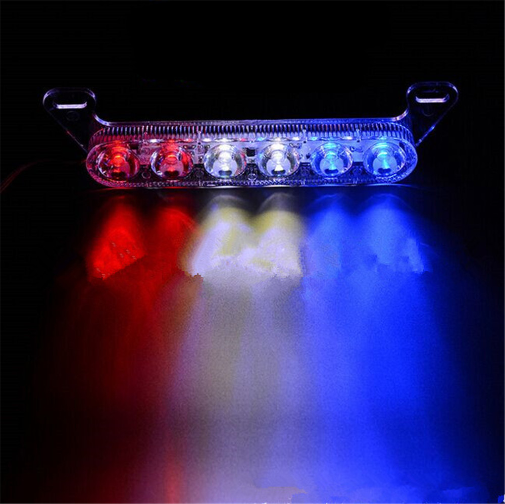 LED Strobe Light Vehicle Flash Lights Motorcycle Car Rear Tail Reverse Truck Brake Stop Lamp Warning Red Blue DC12V High Quality  1 piece red rectangle red len led reflectors brake light universal motorcycle brake light car brake lights moto stop light