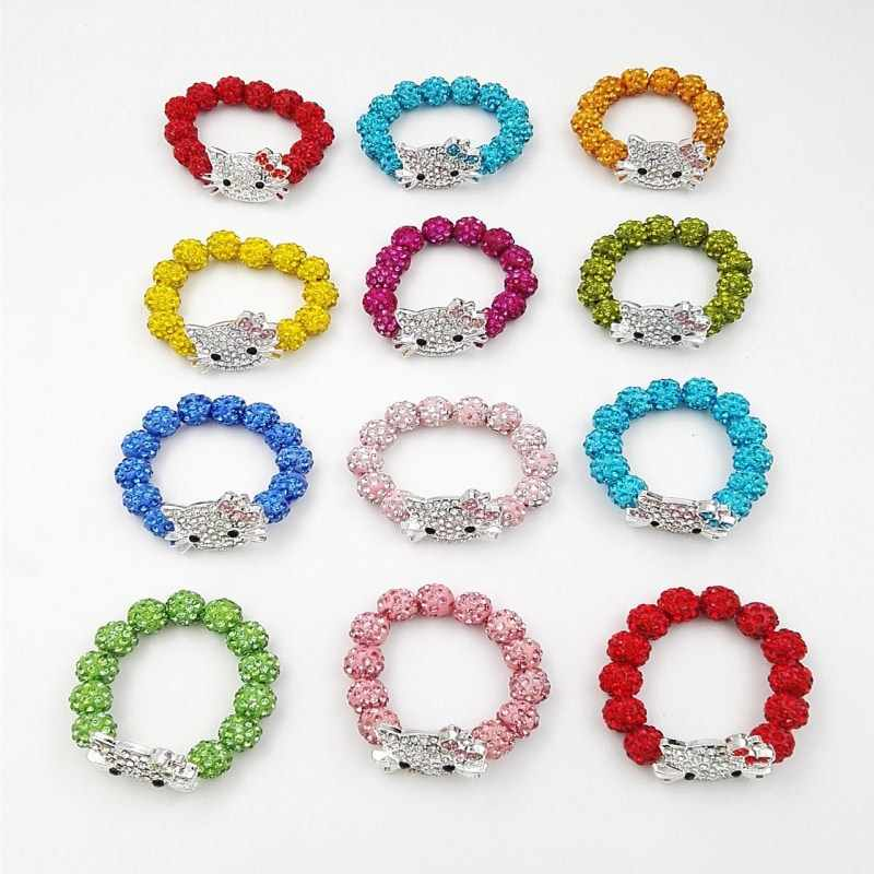 fd7244e85 children's gift kid exclusive Hello Kitty Crystal Beads bracelets Gift  manufacturer direct selling Fashion jewelry
