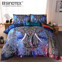 Conjuntos de ropa de cama Cubierta Del Edredón Funda de Almohada Funda de Almohada Poliéster Impresión Reactiva Lijado Occidental Decoración del Hogar Dormitorio 3 UNIDS