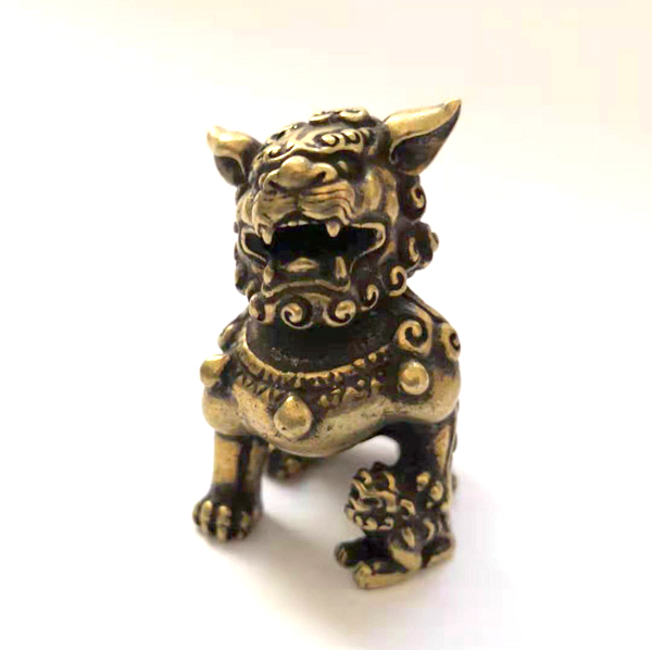 A PAIR COLLECTIBLE DECOR OLD JADE /& TIBET SILVER LION STATUE