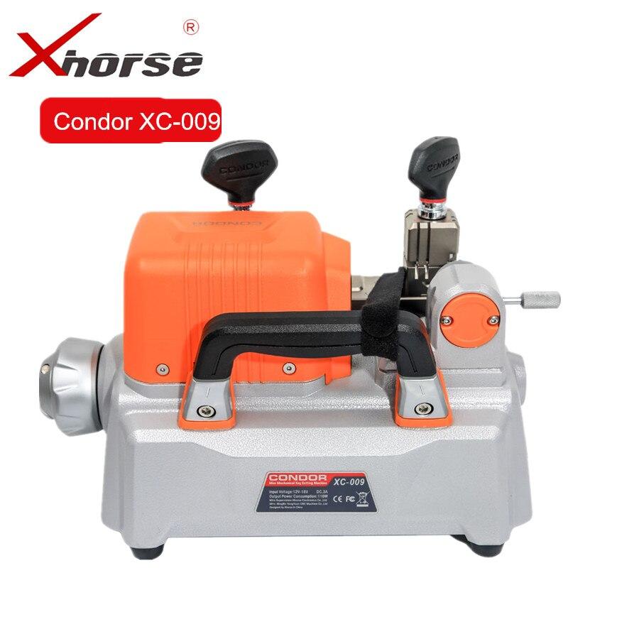 Xhorse Condor XC-009 Clé Machine De Découpe Avec Batterie XC009 moins cher que CONDOR XC-MINI pour Unique-Face et Double- face Touches
