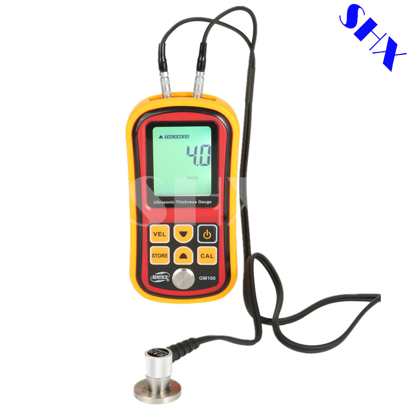 GM100 Digital Ultrasonic Thickness Gauge Tester Metal Width Measuring Instrument 1.2~220mm (Steel) Sound Meter Diagnostic-tool exploit high precision 0 01mm profession digital lcd display thickness gauge meter paper leather fabric thickness tester