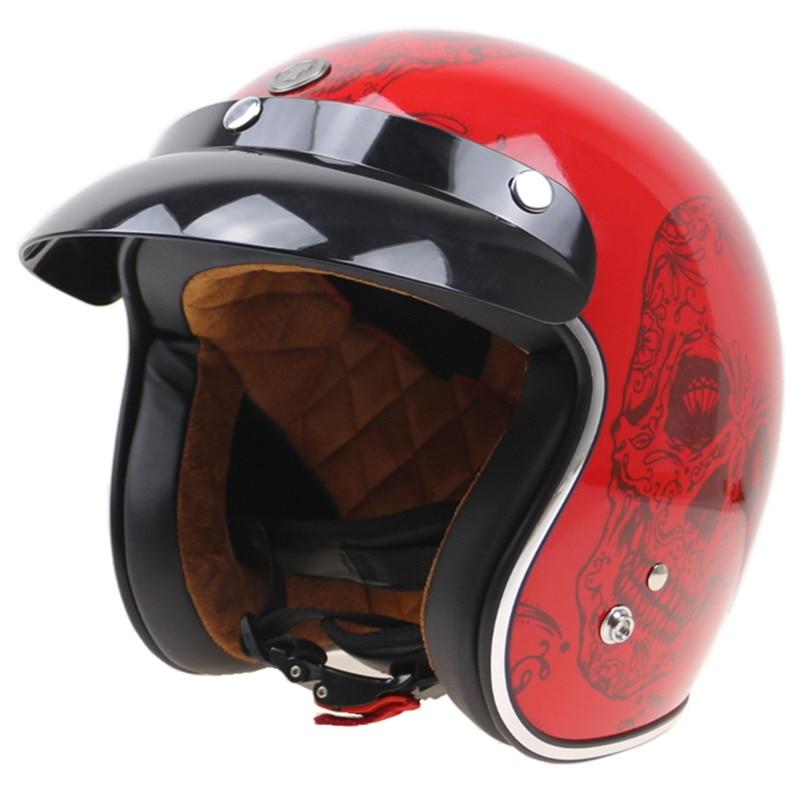 TORC RED SKULL Helmet DOT Approved open face motorcycle helmet 9 color available greg pak red skull incarnate