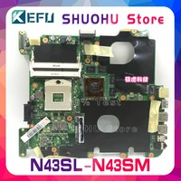 Kefu Voor Asus N43SM N43SN N43SL N43S N43 Laptop Moederbord Getest 100% Werk Originele Moederbord