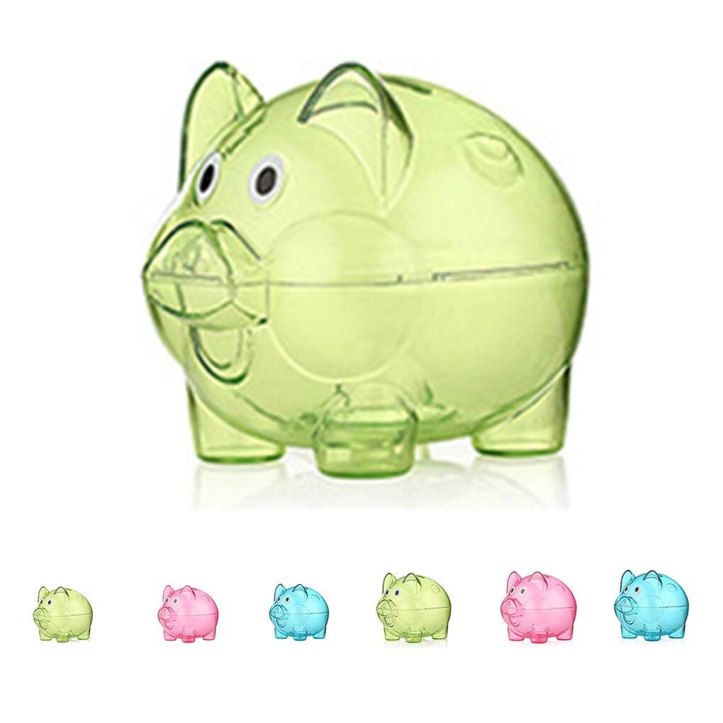 c3dc8448e Detail Feedback Questions about New Mini Cute Transparent Case Coins Piggy  Bank Cartoon Pig Shaped Plastic Money Saving Box on Aliexpress.com
