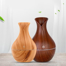 Humidifier Essential Oil Diffuser Aroma Lamp Aromatherapy Electric Aroma Diffuser Mist Maker for Home-Wood цена и фото