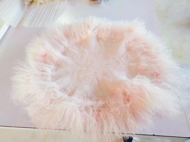 Accesorios de fotografía recién nacido manta tapisserie manta de lana polar bebé círculo manta apoyos de la foto