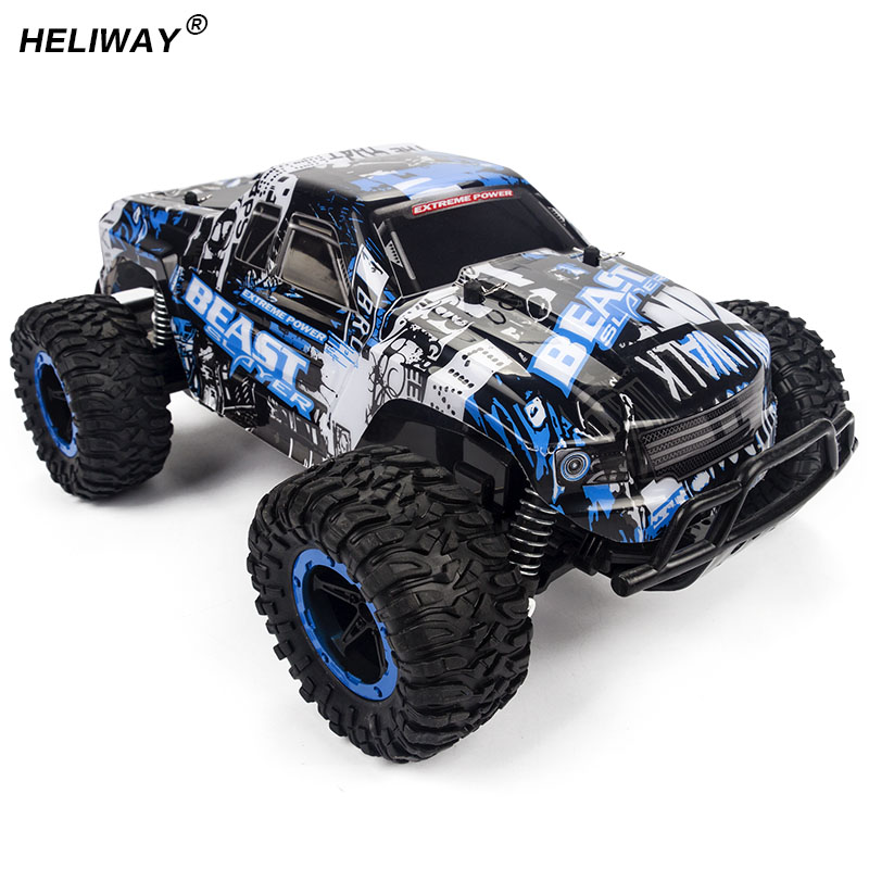 HELIWAY 1:16 New RC Car High Speed SUV Rock Rover Double Motors Big Foot Cars Remote Control Radio Controlled Off Road Car Toys