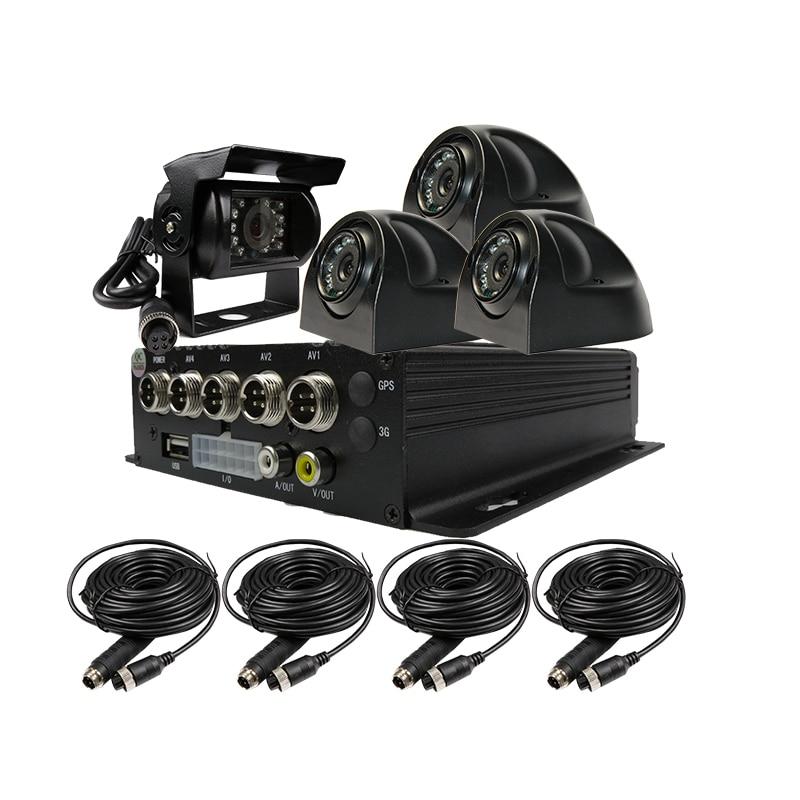 Free Shipping 256GB SD G-sensor Mobile DVR Recoder Kit H.264 Video Audio Input MDVR IR Side Rear View Duty Camera for Truck Van домкрат гидравлический подкатной jtc 2 5т 145 520мм