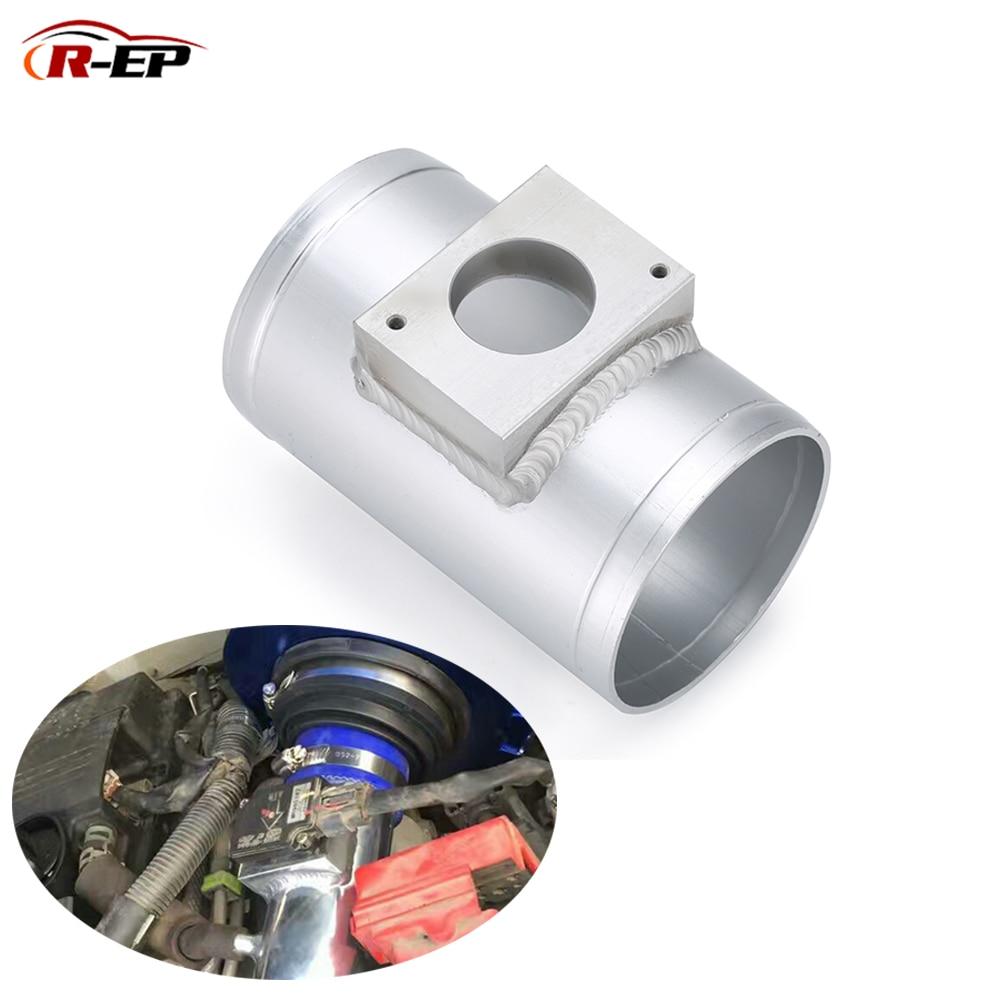 R-EP Air Flow Sensor Mount Fit For Mitsubishi ASX Lancer Outlander MAF Performance Air Intake Meter Adapter Tube 63mm 76mm