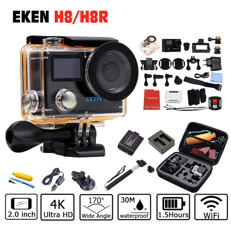 EKEN H8 H8R Ultra HD 4K 30FPS WIFI Action Camera 30M waterproof 1080p 60fps 2.0 DVR underwater go Helmet extreme pro sport cam ...