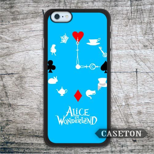 Clock Alice In Wonderland Case For iPhone 7 6 6s Plus 5 5s SE 5c and For iPod 5 High Quality Lovely Phone Cover