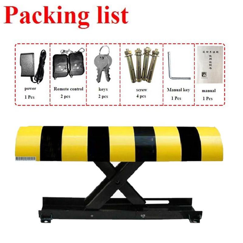 IP57 Camber Rechargeable Parking Space Barrier Remote Control Automatic Car Parking Lock