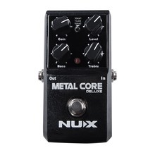 NUX Metal Core Distortion Effect Pedal True Bypass Guitar Effects Pedal 2-Band EQ Tone Lock Preset Function цена и фото