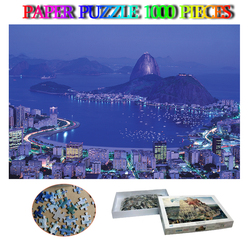 Rio De Janeiro in Brasile Città del Paesaggio Jigsaw Puzzle 1000 Pezzi di Carta Puzzle per Adulti di Decompressione 1000 Pezzi Di Puzzle Giocattoli