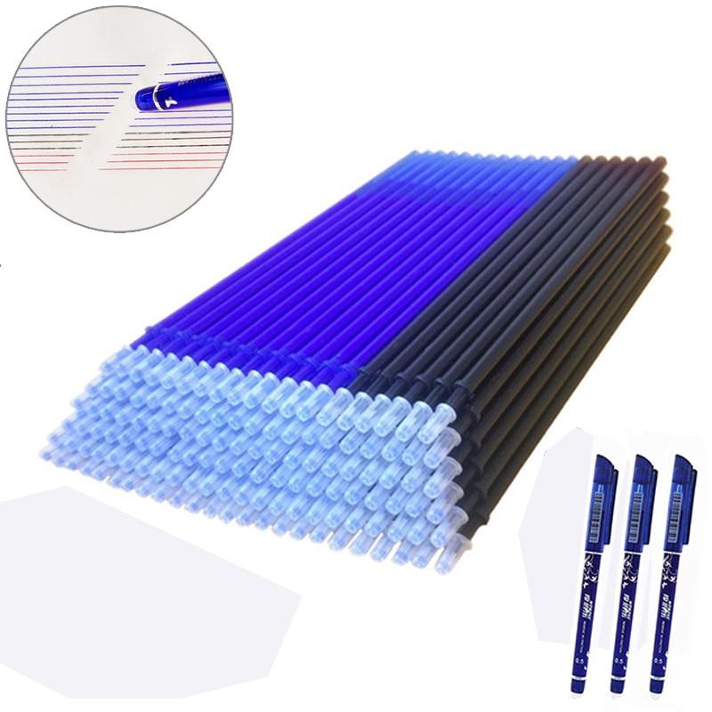 20 Pcs/lot Magic Erasable Pen Refills Rod 0.5mm Office Gel Pen Washable Handle Blue Black Red Ink Pen School Writing Stationery