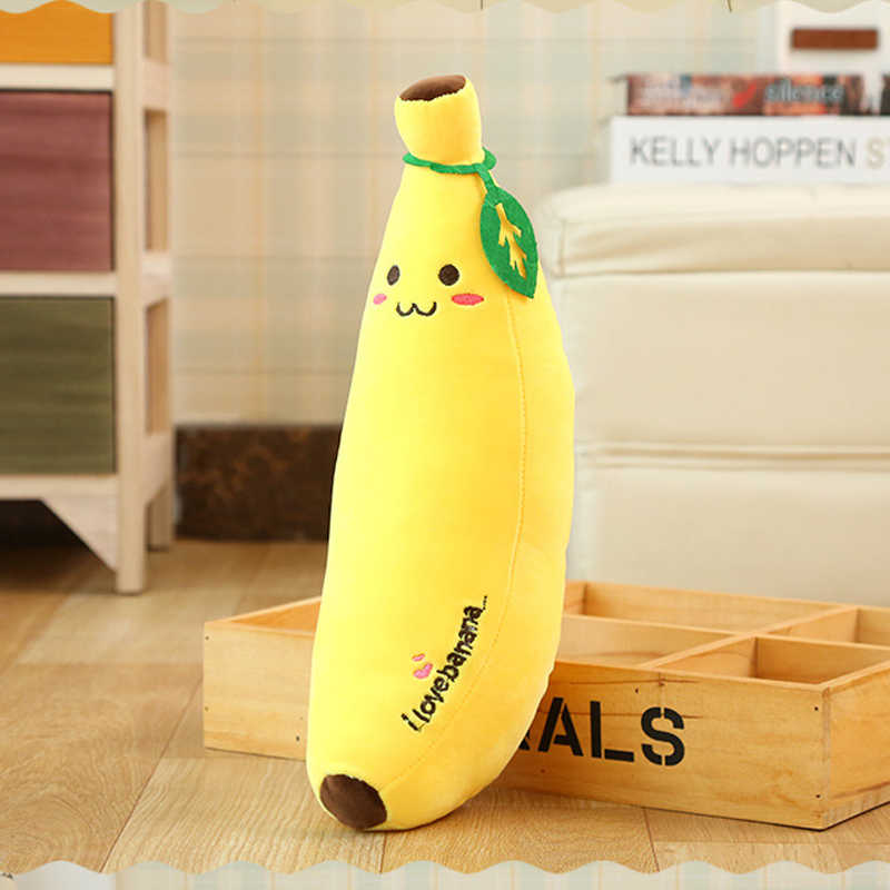 1PCS Yellow Soft Cute Banana Fruit Plush Doll Pillow Christmas Present to Friends 3 Diferent Size for Chosen