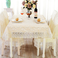 Hot Sale New Arrive Korean Style Pastoral Lace Table Cloth Home Party Coffee Table Cloth Restaurant