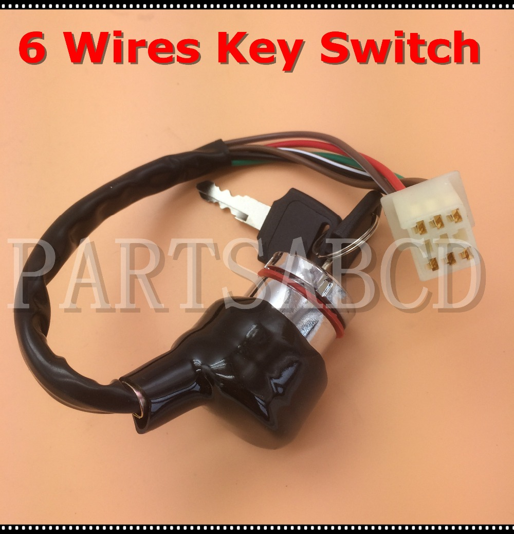 Buy 6 Wires Ignition Key Switch 50cc 110cc 125cc Atv Wiring 150cc 250cc Go Kart Quad From Reliable Suppliers On Jun An Store
