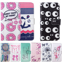 Doughnut Leaf bird Painted Leather Phone Case sFor LG G4 Stylus Note H540F H635 Ls770 G Stylo Phone Bags Wallet Coque Flip Cover