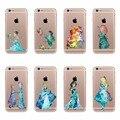 Ариэль Русалка Принцесса Красавица и чудовище Шаблоны ТПУ Кремния Телефон Case для Apple iPhone 6 6 S 7 5 5S SE Вернуться Fundas Охватывает
