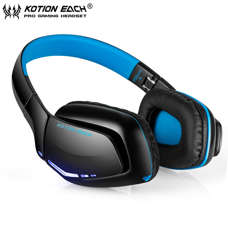 KOTION EACH B3506 Wireless Bluetooth Headset Foldable Gaming Cuffie Stereo Headphone with Mic for Phone/PS4 Gamer Auriculares kotion each b3506 foldable auriculares wireless fone de ouvido bluetooth headphones gaming headset gamer microphone kulaklik