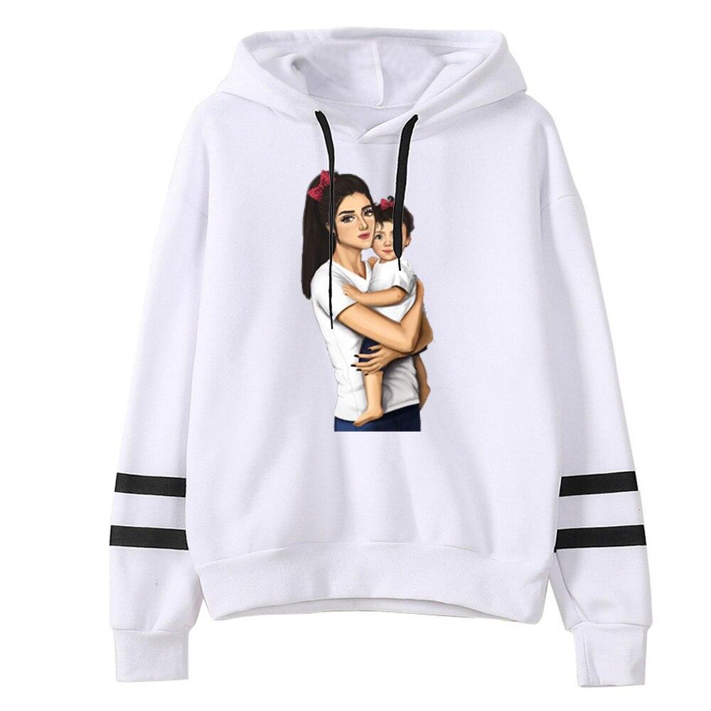 Trendy clothes for women 2019 New pattern Cartoon Mom and Baby Printting streetwear hoodies women Cartoon cute long sleeve
