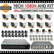 HKES New Arrival CCTV System 16 CH AHD DVR Equipment with Waterproof IR Bullet Digital camera AHD 720P Surveillance Equipment