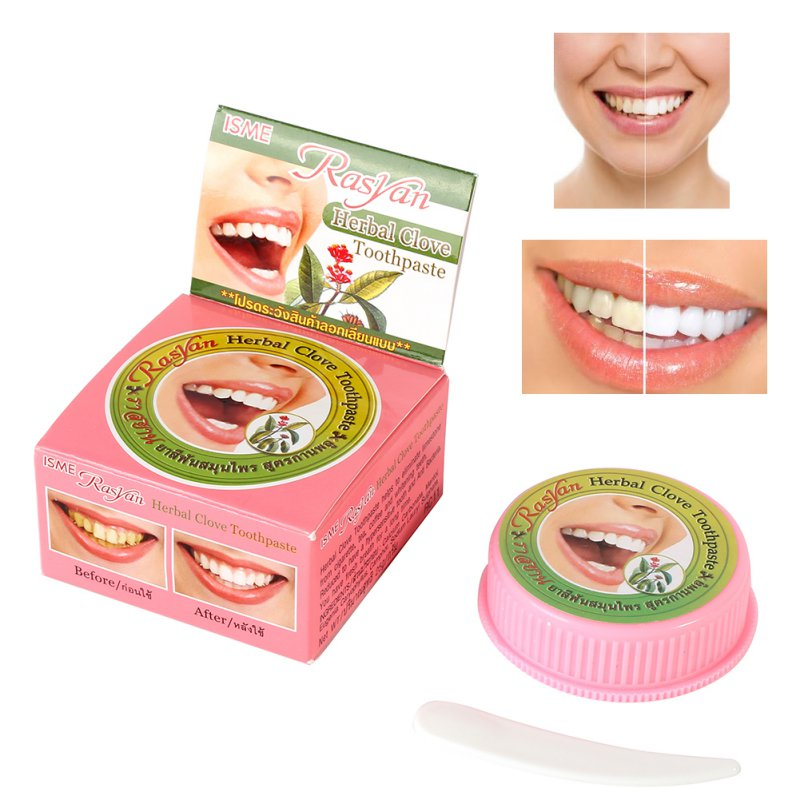Herb Natural Herbal Clove <font><b>Thailand</b></font> Toothpaste Tooth Whitening Toothpaste Dentifrice Antibacterial Tooth Paste image